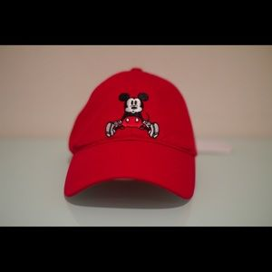 KITH KIDS X DISNEY MICKEY MOUSE DAD CAP RED UNISEX